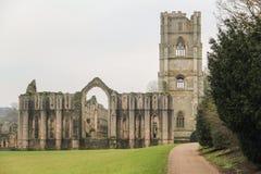 Ruines des fontaines Abbey England R-U photos libres de droits