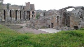 Ruines des thermae de la villa Adrian dans Tivoli, Italie photographie stock libre de droits