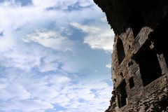Ruines diminuantes de château de carrigafoyle intérieur Images libres de droits