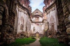 Ruines Discalced de monastère de Carmélites Images stock
