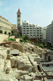 Ruines du bain romain, Beyrouth, Liban photos stock