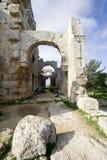 Ruines du baptistère, rue Simeon Images libres de droits
