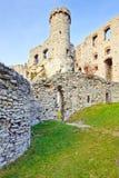 Ruines du château d'Ogrodzieniec en Pologne Photos libres de droits