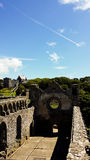 Ruines du château de St David Photo stock