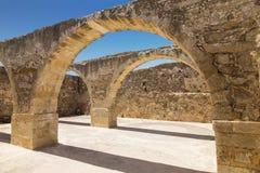 Ruines du château vénitien Fortezza dans Rethymno, Crète Photo libre de droits