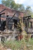 Ruines du feu dans des brindilles Images libres de droits