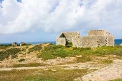 Ruines du forte DA Luz Fort de la lumière, sur la côte occidentale portugaise, Peniche photo libre de droits