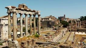 Ruines du forum romain banque de vidéos