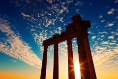 Ruines du grec ancien dans le côté turc de ville Photo libre de droits