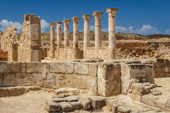Ruines du grec ancien et de la ville romaine de Paphos photo libre de droits