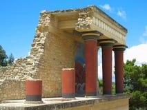 Ruines du palais de Minoan de Knossos à Héraklion, Grèce Photo libre de droits