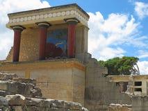 Ruines du palais de Minoan de Knossos à Héraklion, Grèce Images stock