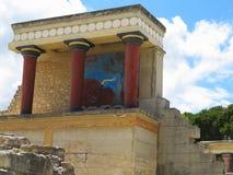 Ruines du palais de Minoan de Knossos à Héraklion, Grèce Photo stock