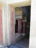 Ruines du palais de Minoan de Knossos à Héraklion, Grèce Image libre de droits