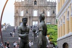 Ruines du ` s, centre historique de St Paul de Macao, un site de patrimoine mondial de l'UNESCO point de rep?re et populaire pour images libres de droits
