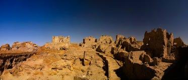 Ruines du temple d'Amun Oracle, oasis de Siwa, Egypte Image stock