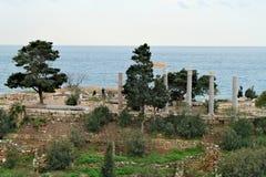 Ruines du temple de Ba˜alat Gebal dans Byblos Photos stock