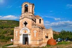 Ruines du temple de l'apôtre et de l'évangéliste Luke, Ukraine Photographie stock