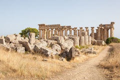 Ruines du temple de Selinunte Photo stock