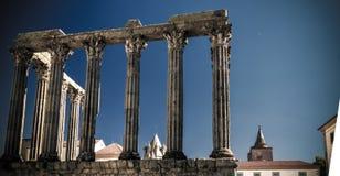 Ruines du temple romain de Diana à Evora, Portugal Images stock