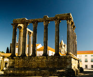 Ruines du temple romain de Diana à Evora, Portugal photo libre de droits