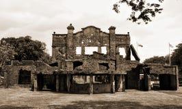 Ruines du théâtre WW2 images stock