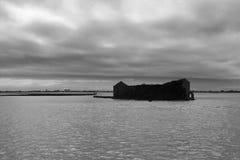 Ruines en mer photographie stock