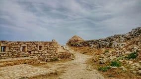 Ruines et ciel bleu photographie stock libre de droits