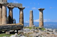 Ruines et crêtes couvertes par neige Images libres de droits