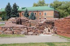 Ruines et ruines de la forteresse de Brest belarus L'Europe centrale Images stock