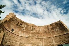 Ruines grandes des bains de Diocletian à Rome Photos libres de droits
