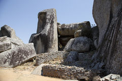 Ruines grandes du Zimbabwe Images libres de droits