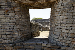 Ruines grandes du Zimbabwe image libre de droits