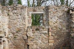 Ruines historiques d'abbaye de Basingwerk dans Greenfield, près de nord Pays de Galles de Holywell Images stock