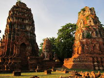 Ruines historiques d'Ayutthaya Photos libres de droits