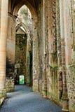 Ruines historiques de l'abbaye du hambey Images stock