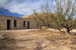 Ruines historiques de motel images stock