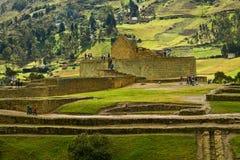 Ruines importantes d'Inca d'Ingapirca en Equateur Image stock