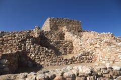 Ruines indiennes indigènes antiques de pueblo de monument national de Tuzigoot Photos libres de droits