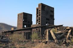 Ruines industrielles image stock