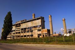 Ruines industrielles, cobine d'Oltenita Photographie stock