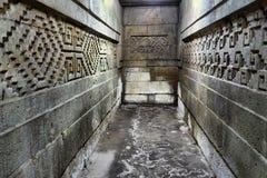 Ruines intérieures de Mitla Photo libre de droits