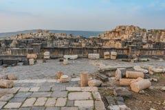 Ruines Jordanie de Romains de gadara d'Umm Qais Images libres de droits