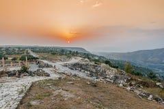 Ruines Jordanie de Romains de gadara d'Umm Qais Photographie stock libre de droits