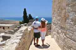 Ruines of Kourion in Cyprus Royalty Free Stock Photos