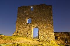Ruines la nuit Images stock