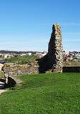 Ruines Lanzada kościół - Północny wybrzeże Hiszpania obrazy royalty free