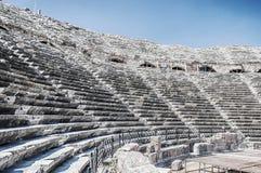 Ruines latérales d'amphithéâtre Images stock