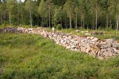 Ruines Marieholm - en Suède Image libre de droits