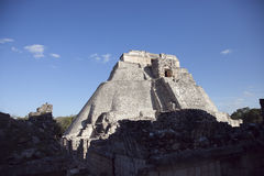 Ruines maya à uxmal, Mexique Photographie stock libre de droits